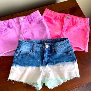 3 pack justice Jean shorts